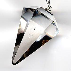 Natural Quartz Crystal Pendulum.. Facet Reiki