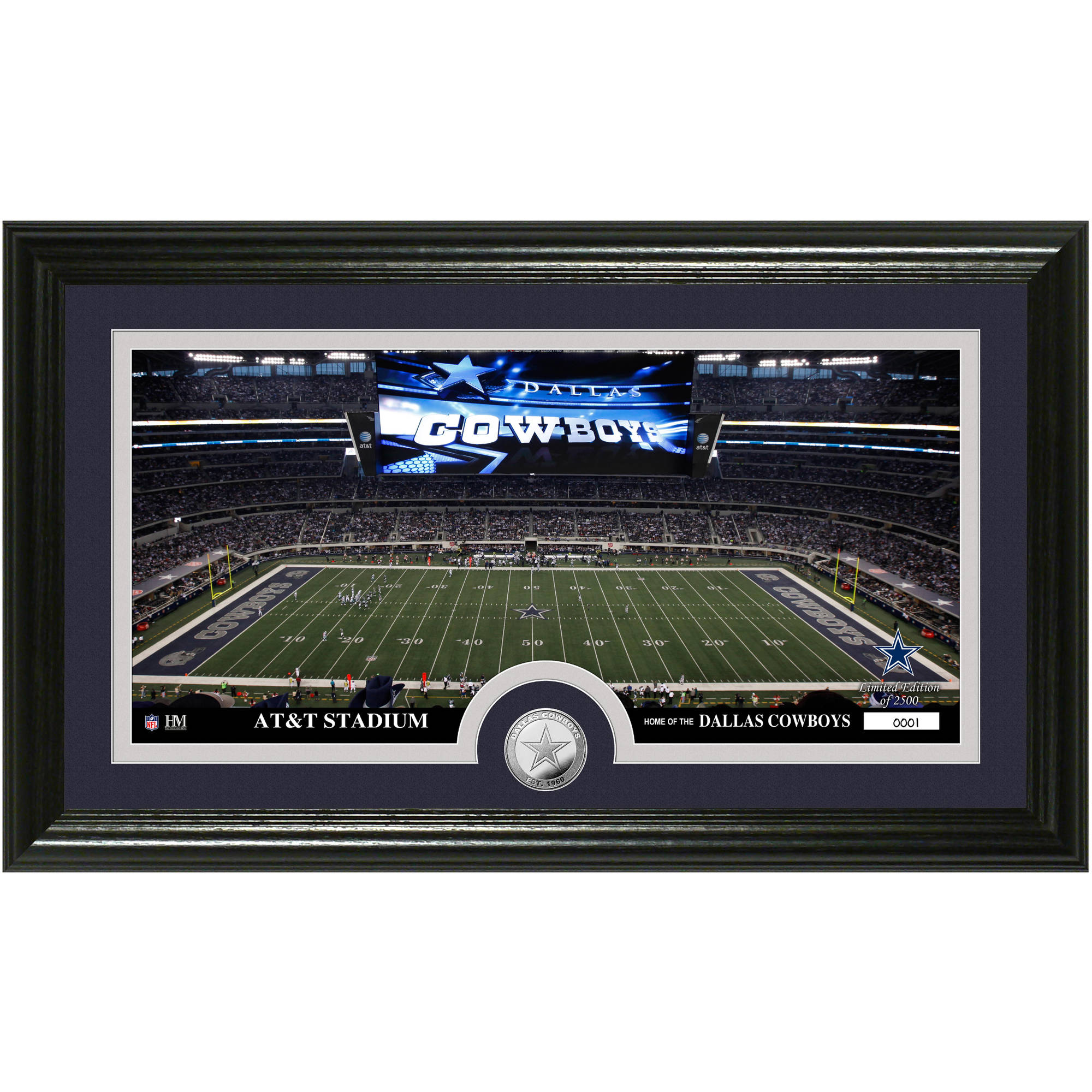 The Highland Mint NFL Stadium Bronze Coin Panoramic Photo Mint, Dallas Cowboys