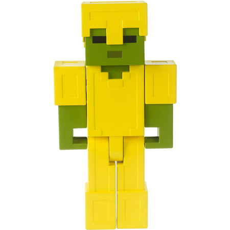 Minecraft Armored Zombie Large-Scale Pixelated Figure