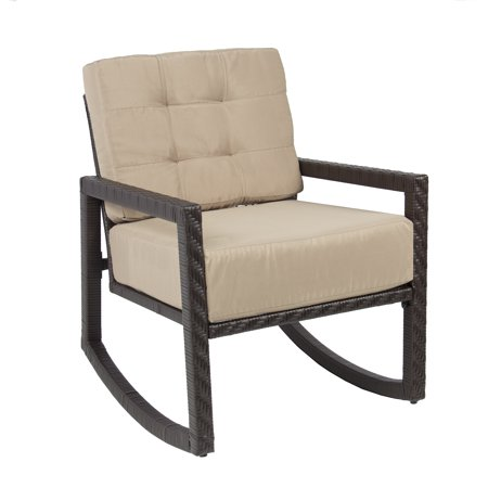 outdoor wicker rocking chair with cushion patio furniture luxury chair