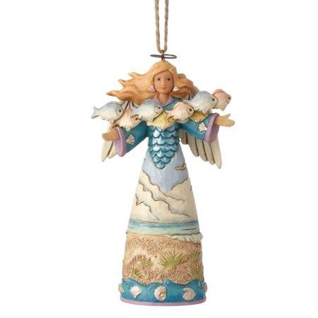 Jim Shore HWC Coastal Angel with Fish Christmas Tree Ornament 6001529 Beach New ()