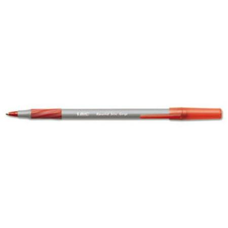 Bic Corporation GSFG11RD Round Stic Grip Ballpoint Stick Pen, Red Ink, Fine, Dozen
