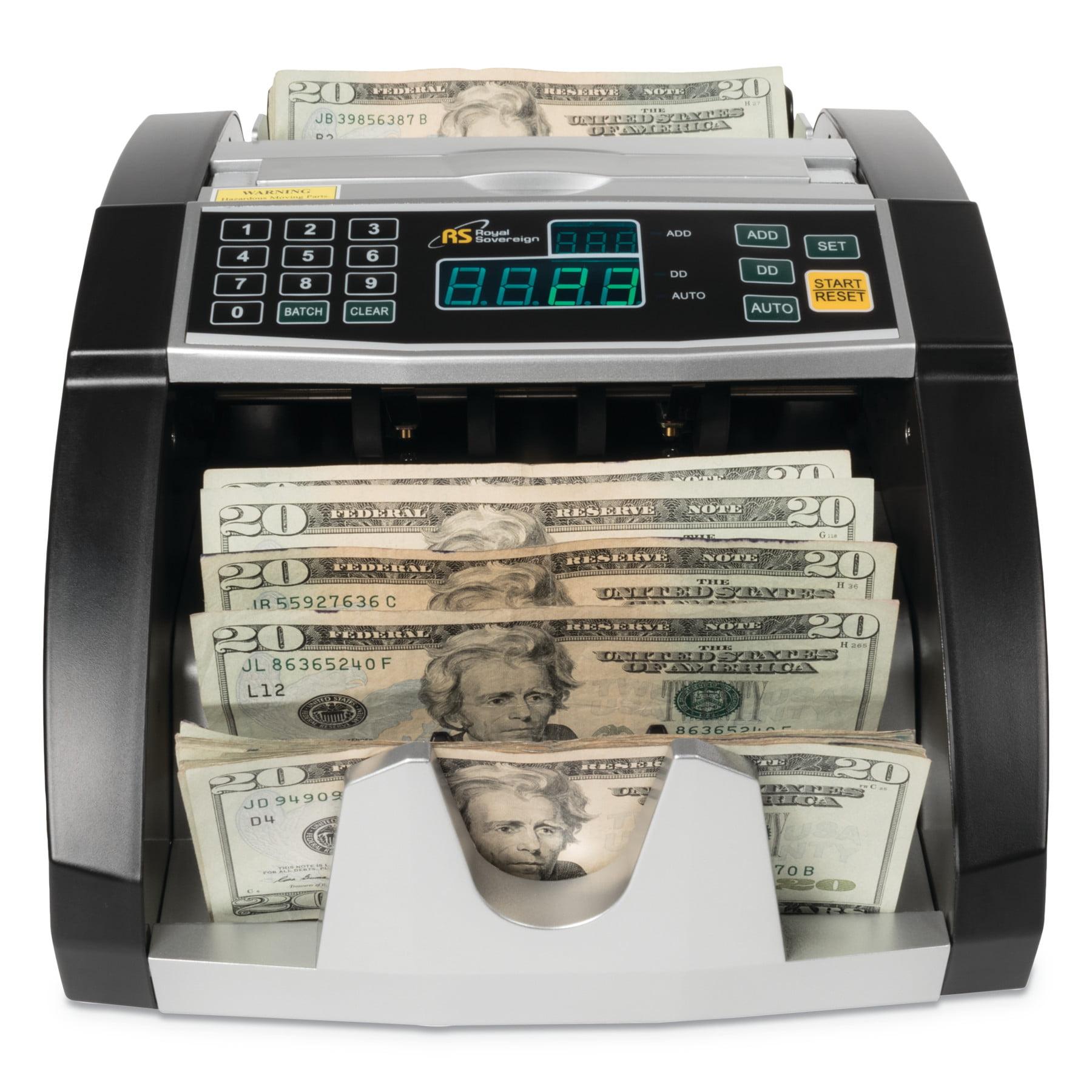 Royal Sovereign Electric Bill Counter, 1000/Bills/Min, 12 3/8 x 9 7/8 x 6 1/2, Black/Silver -RSIRBC660