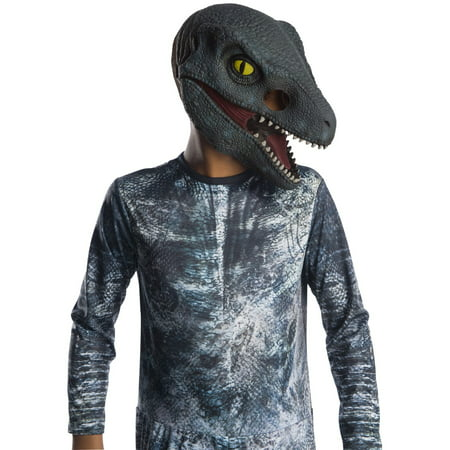 Jurassic World: Fallen Kingdom Velociraptor Kids 3/4 Mask Halloween Costume Accessory