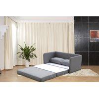 US Pride Furniture Ray-Ray Convertible Sleeper Loveseat, Gray
