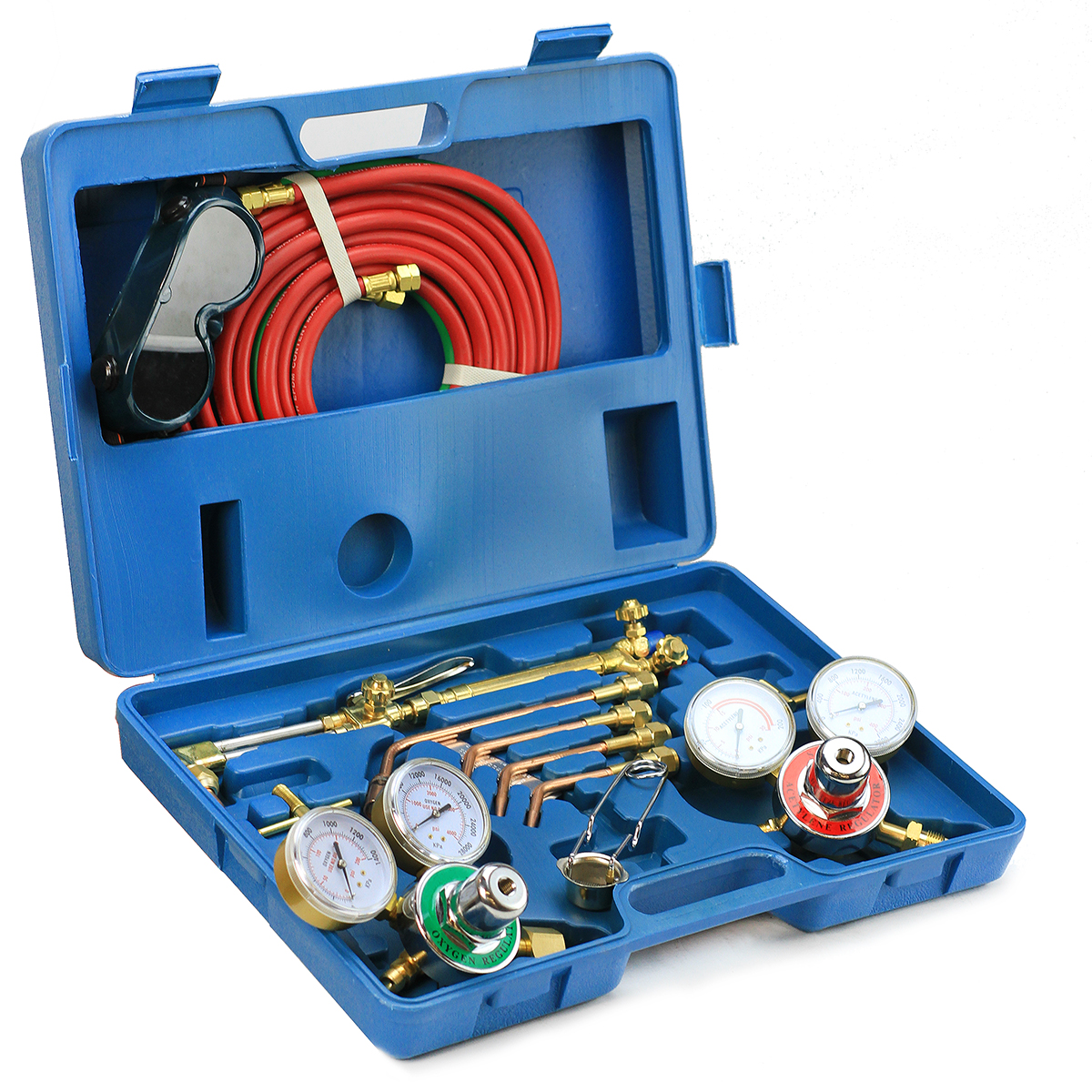 Stark Oxygen Acetylene Welding Cutting Torch Tool Kit with Regulator & Twin Hose Carrying Case