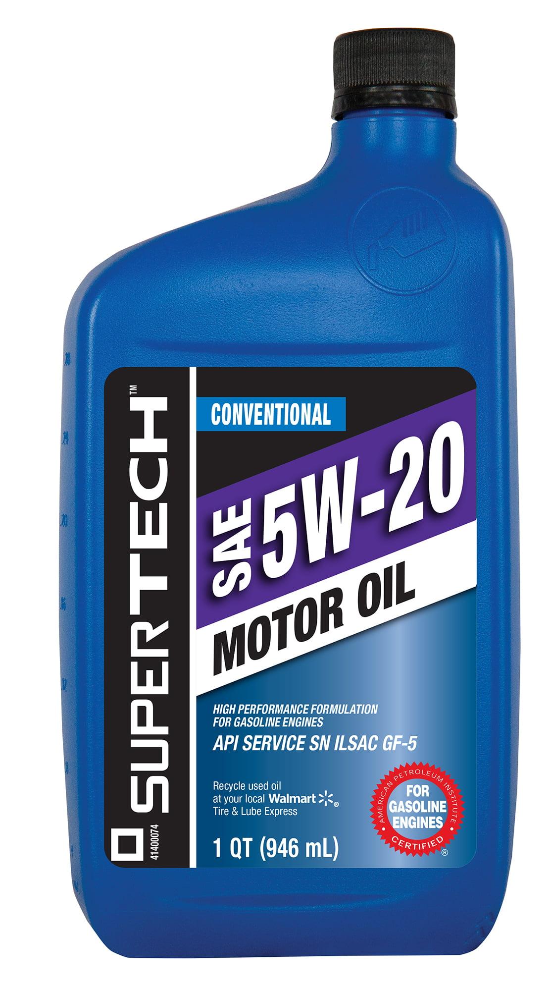 SuperTech 5W20 Motor Oil 1 qt Walmart