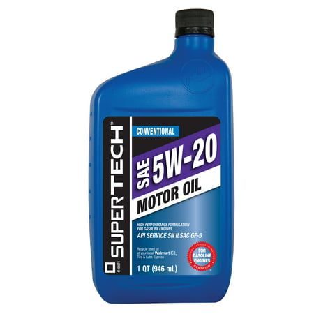 Supertech 5W20 Motor Oil  1 Qt