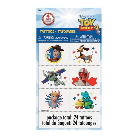 Disney Toy Story 4 Tattoos, 24ct for Birthday - Party Supplies - Licensed Tableware - Misc Licensed Tableware - Birthday - 24