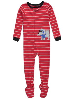 """Little Boys' Toddler """"Winter Rhino"""" Footed Pajamas (Sizes 2T - 4T)"""
