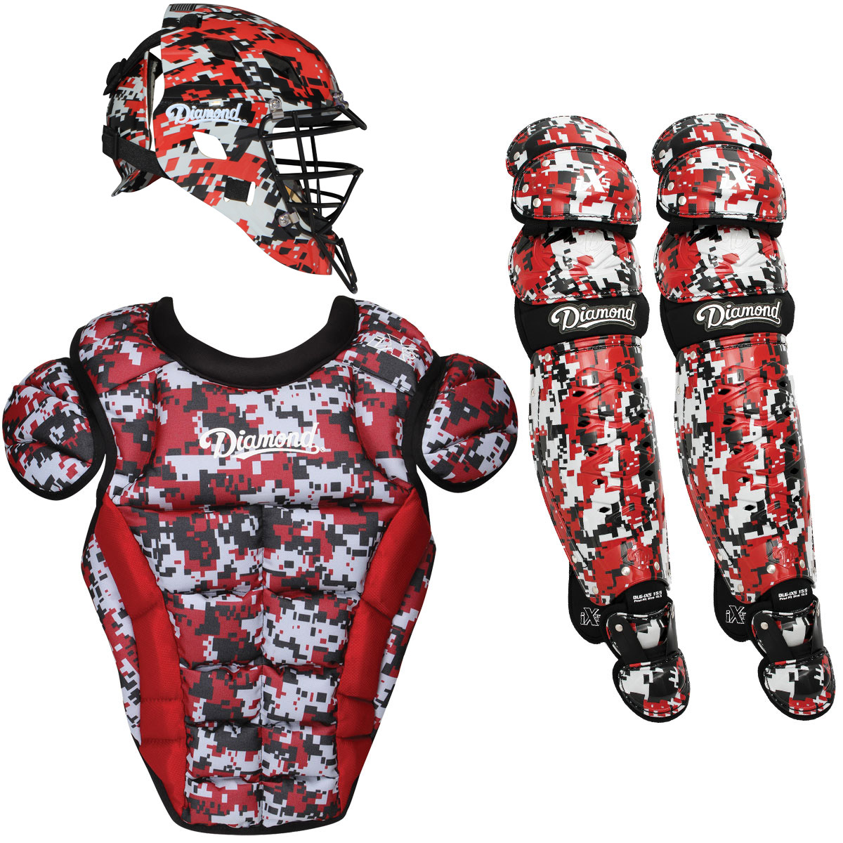 Diamond iX5 Pro Camo Intermediate Baseball Catcher's Package