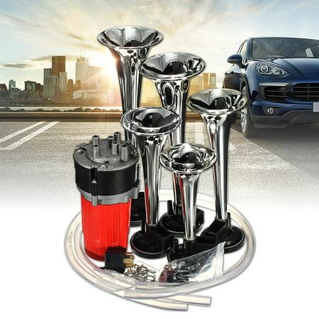 Novelty Car Horns (Trumpet Musical Dixie Dukes Of Hazzard Electronic Chrome Air Horn Air Compressor Tubing Compose Universal Car Vehicle SUV Bus AUDEW)