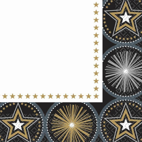 Hollywood 'Glitter Starz' Lunch Napkins (16ct)