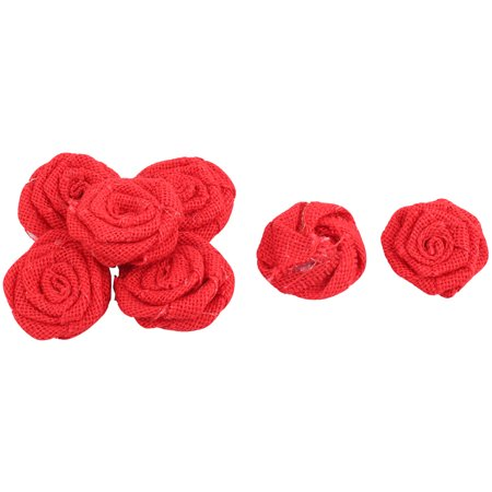 Home Rose Shaped Handmade DIY Candy Gift Box Decoration Burlap Flower Red 7 Pcs - Diy Valentine Box