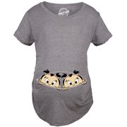 975d26fe Maternity Peeking Twin Girls Tshirt Cute Adorable Pregnancy Tee For Mom To  Be