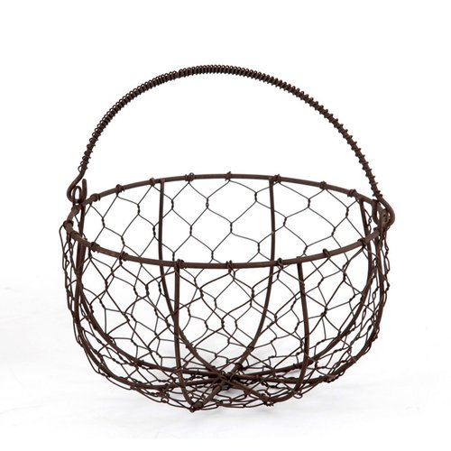 Homezone Wire Basket with Moveable Handles