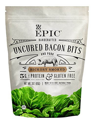 Epic Uncured Bacon Bits Hickory Smoked, 3 oz by Epic