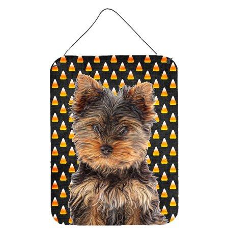 Candy Corn Halloween Yorkie Puppy / Yorkshire Terrier Wall or Door Hanging Prints
