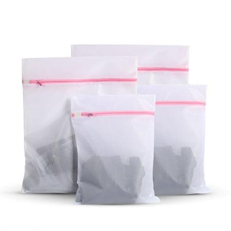 Set Of Wash Bag Laundry Washing Mesh Net Zippered Socks Bra Clothes