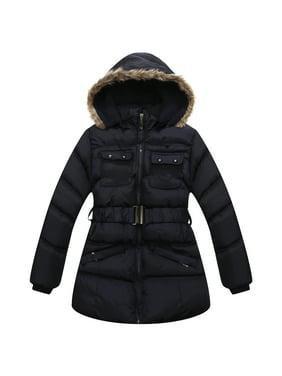 Richie House Little Girls Navy Detachable Hood Alaskan Jacket 5