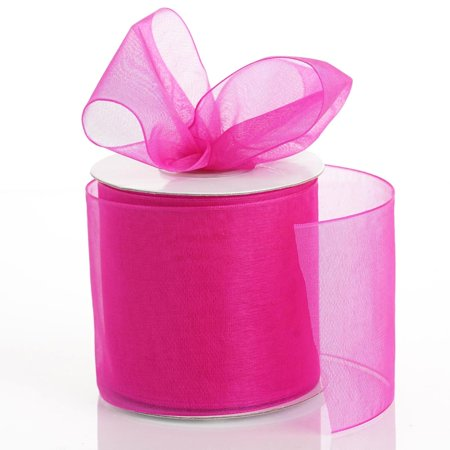 Efavormart Multiple Colors Wedding Party Decoration Organza Ribbon 2 3/4""