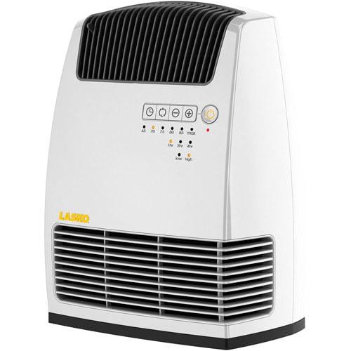 Lasko Electronic Fan-Forced 1500-Watt White Heater with Warm Air Motion Technology