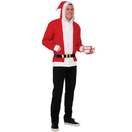 Simply Santa Hoodie Adult Costume (Medium)