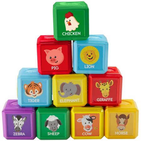 Fisher Price Laugh   Learn First Words Animal Blocks