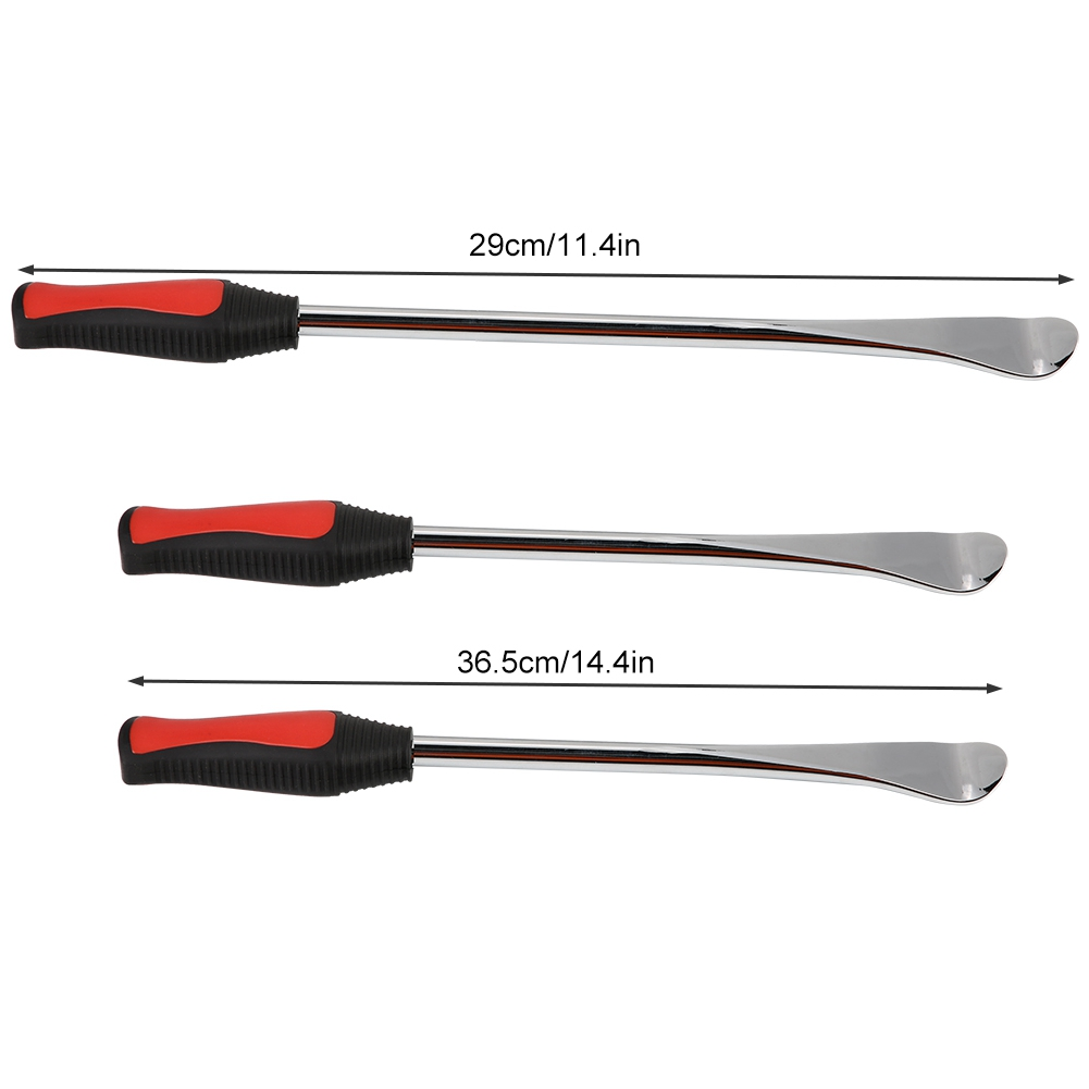 14.5+11.5inch Motorcycle Tire Changing Spoons Lever Iron Wheel Rim Protector Valve Tool Kit Qiilu Tire Changer Spoon Lever Iron Tool Kit