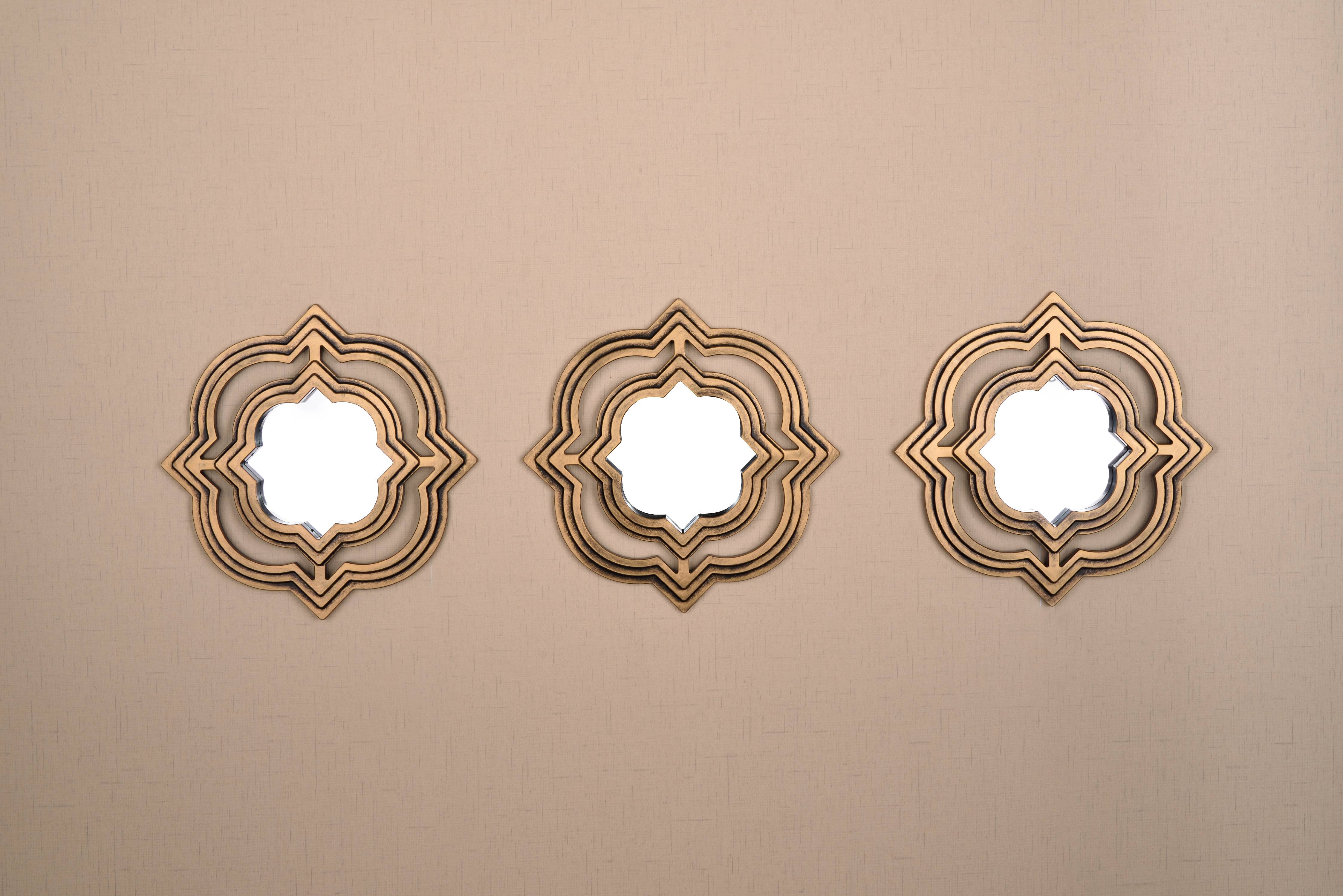 All American Collection New 3 Piece Decorative Mirror Set, Wall Accent Display by American Linen & Rugs