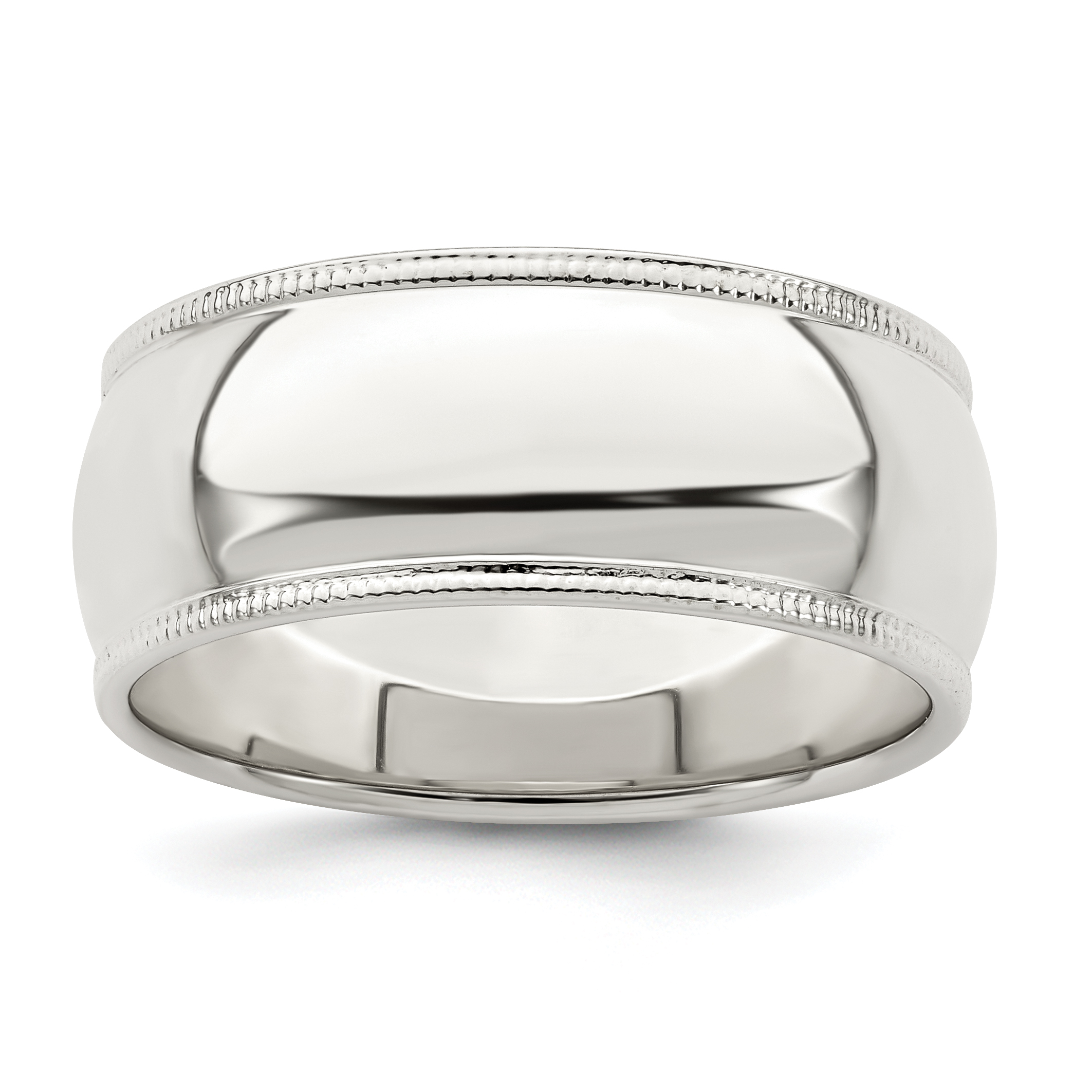 Wedding Bands Classic Bands Domed Bands Sterling Silver 5mm Half-Round Band Size 12
