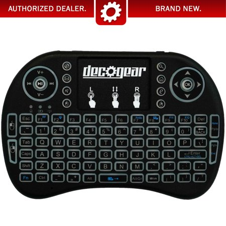 Deco Gear 2.4GHz Wireless Backlit Keyboard Smart Remote w/ Touchpad Mouse