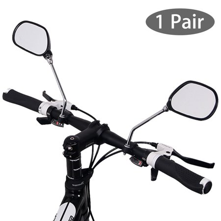 EEEkit 1 Pair Bike Mirror Handlebar End Glass Safer Bicycle Mirrors for Handlebars, 360 Rotation Bicycle Rearview Mirror for Mountain Bike Off-Road Bike and Fixed Gear Bike, Fit for 22mm (Best Mountain Bike Glasses)
