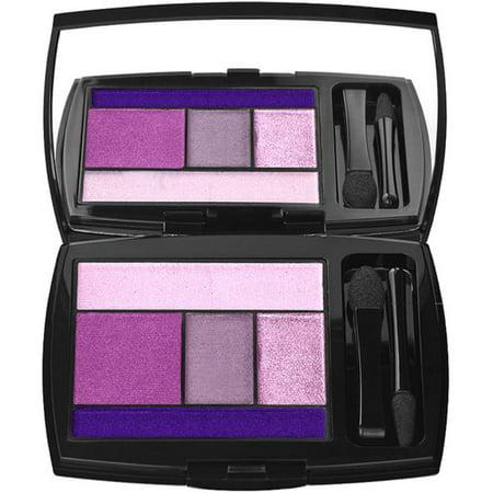 2 Pack - Lancome 5 Shadow/Liner Color Design Palette for Women, Amethyst Glam .141 oz
