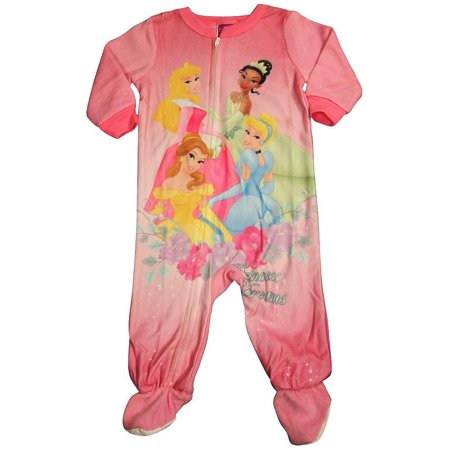 Disney Princess - Baby Girls Footed Blanket Sleeper Pink / 18 Months](Princess Jasmine Pajamas)