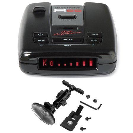 Escort Passport High Performance Radar and Laser Detector includes Bonus RadarMount Suction Mount Bracket for Radar Detectors