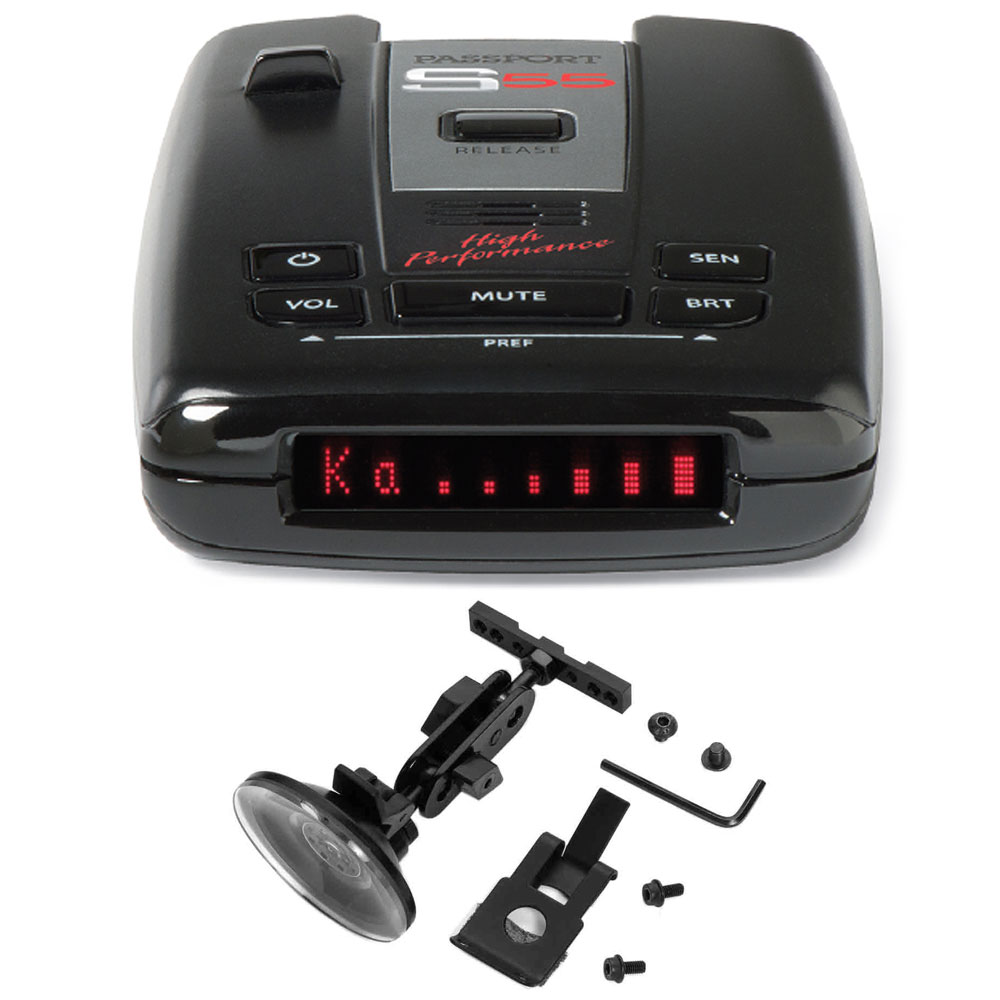 Escort Passport S55 High Performance Radar and Laser Detector includes Bonus RadarMount Suction Mount Bracket for Radar Detectors