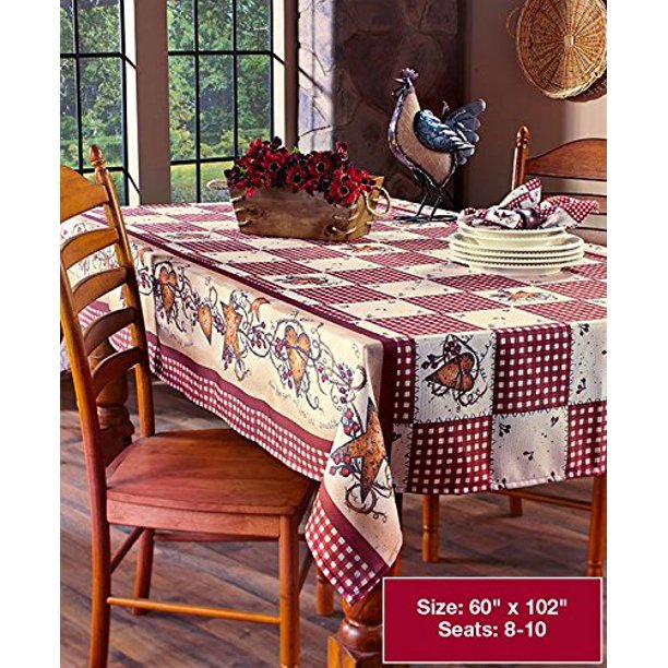 Linda Spivey Kitchen Decor Table Cloth Linens Primitive Country Hearts Stars Tablecloth Or Napkins Collection 60 Quot X 102 Oblong Walmart Com