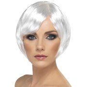 Babe Short Bob Costume Wig Adult White One Size