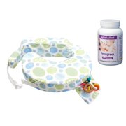 My Brest Friend Original Nursing Pillow with Fenugreek Capsules, Blue Bells