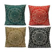 Decorative Throw Pillow Covers Cushion Cases  18''x18'' Compass Vintage Style Linen Pillowcase Pillowslip Protector Car Sofa Bedroom Home Decor