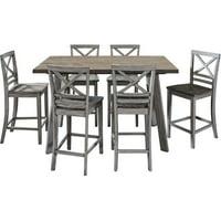 Cambridge Garden Grove 7-Piece Counter-Height Wood Dining Set