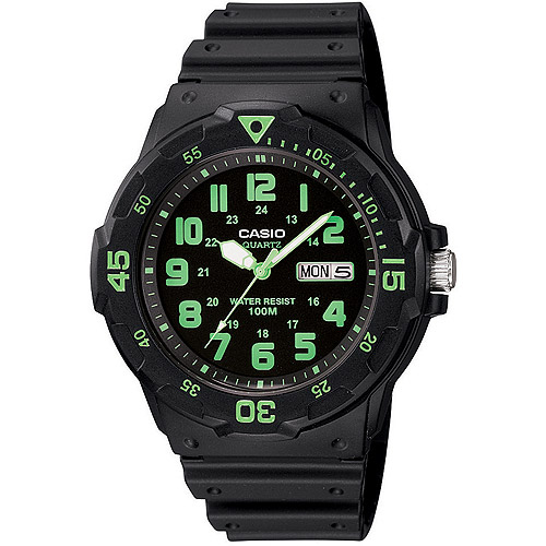 Casio Men's Sport Analog Green-Accented Dive Watch