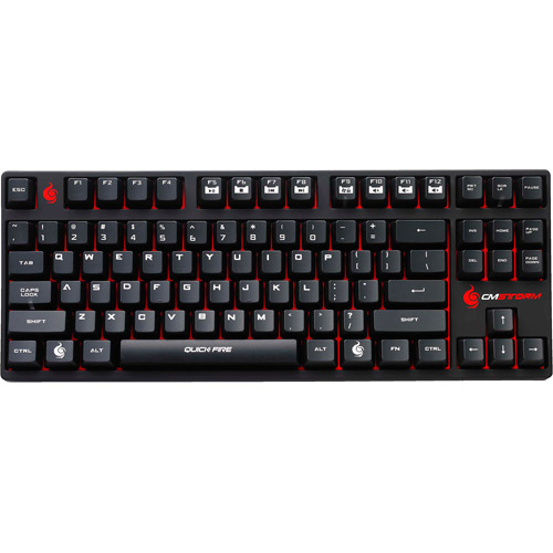 Coolermaster Storm Quick Fire Rapid MX Series Switch Gaming Keyboard, Red Cherry