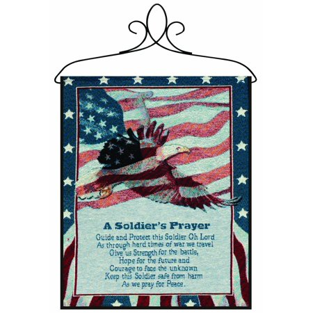 - Manual Patriotic Wall Hanging with Frame, A Soldier's Prayer, 13 X 18-Inch, Cotton By Manual Woodworker
