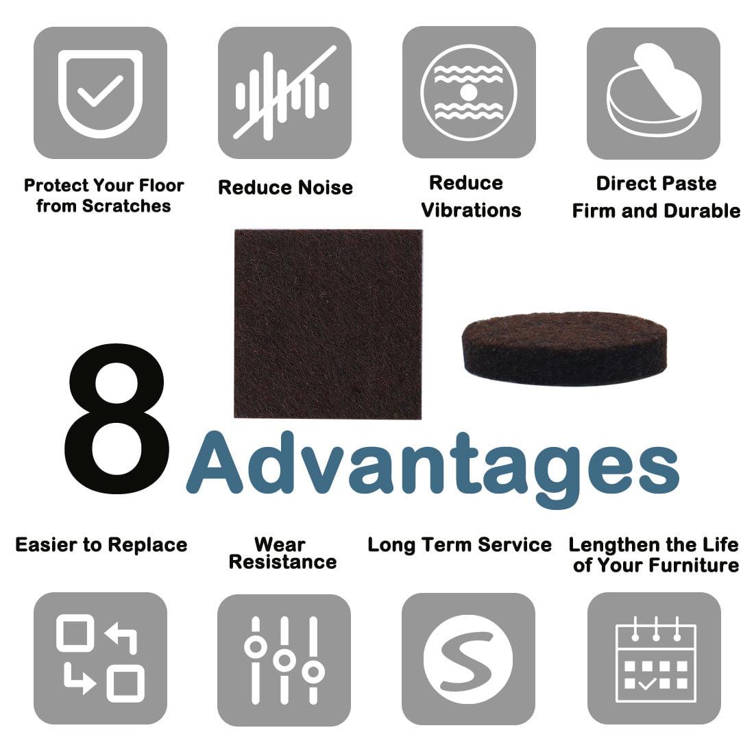 "Felt Furniture Pad Square 1 3/4"" Self Adhesive Anti-scratch Desk Protector 12pcs - image 6 of 7"