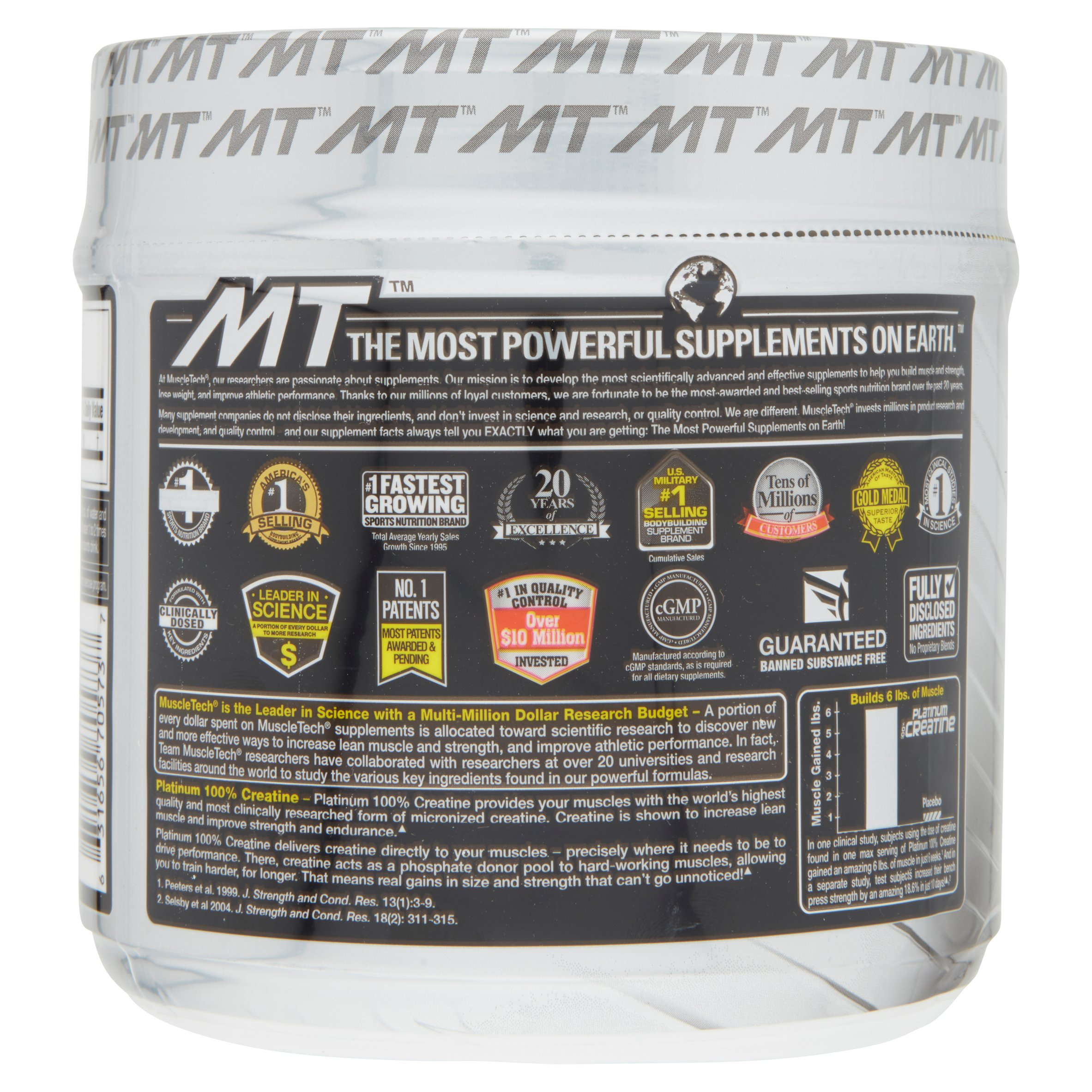 Muscletech Platinum 100 Creatine Powder 80 Servings Monohydrate 1000gr