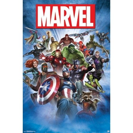 Marvel Comics Super Hero Breakout Poster Poster Print - Superhero Poster