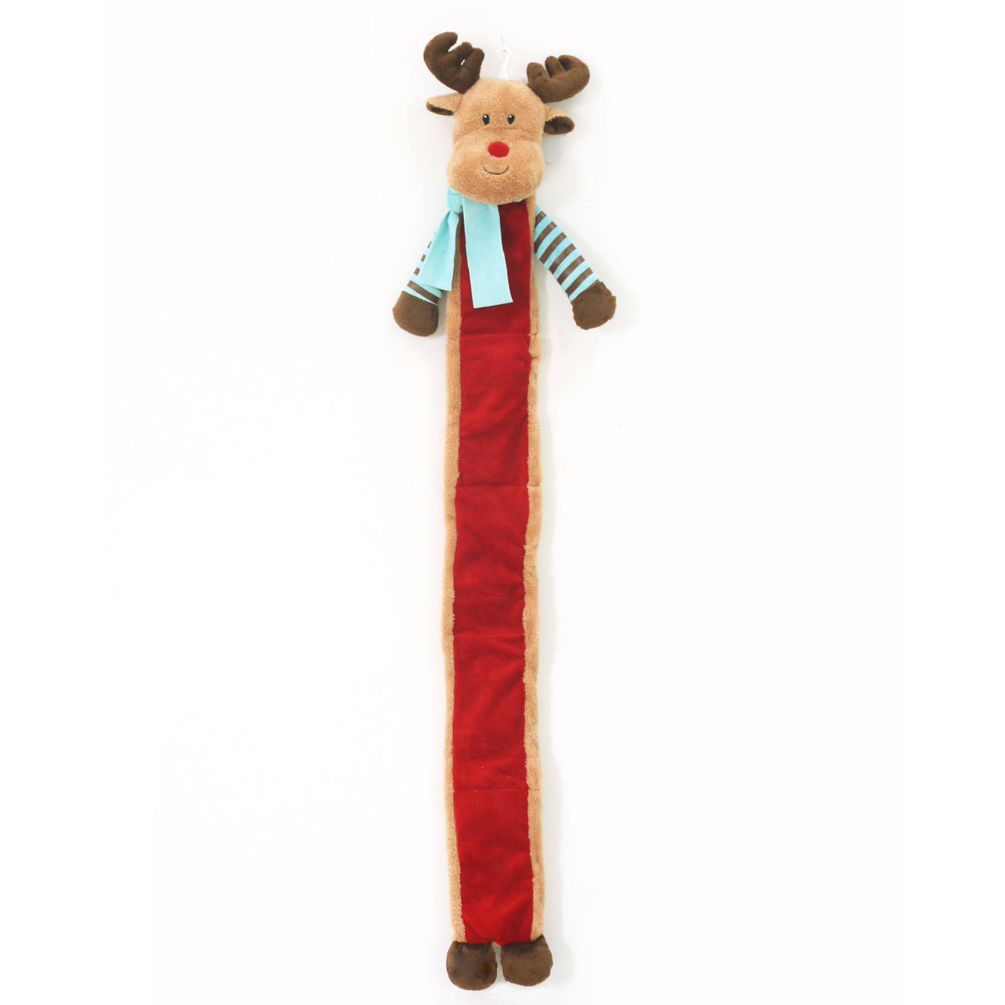 46-inch Extra Long Holiday Crinkly Reindeer Dog Toy by CHUANGYI
