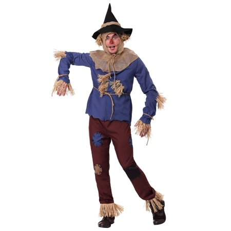 Adult Plus Size Patchwork Scarecrow Costume